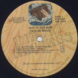 Patrick Moraz / Out In The Sun label