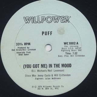 Puff / (You Got Me) In The Mood back