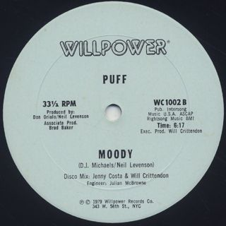 Puff / (You Got Me) In The Mood label