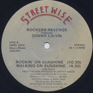 Rocker's Revenge / Walking On Sunshine back