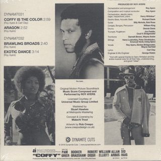 Roy Ayers / Coffy 45s Collection back