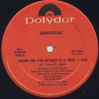 Shakatak / Down On The Street back