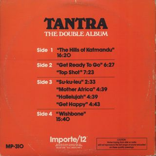 Tantra / The Double Album back