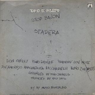 Tullio De Piscopo / Stop Bajon back