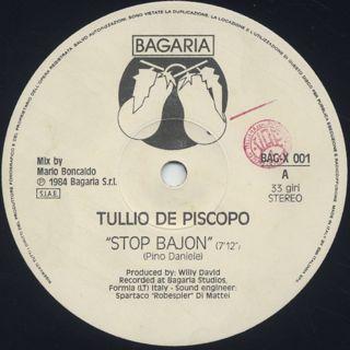 Tullio De Piscopo / Stop Bajon label