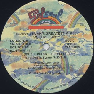 V.A. / Larry Levan's Greatest Mixes Volume Two label