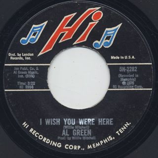 Al Green / L-O-V-E(Love) c/w I Wish You Were Here back