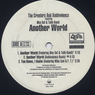 Creators And Ambivalence Featuring Mos Def & Talib Kweli / Another World label