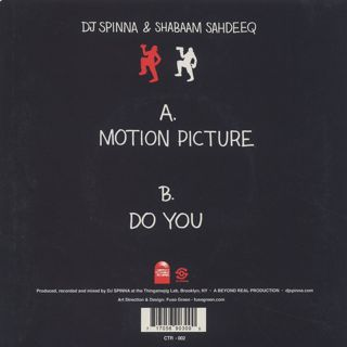 DJ Spinna & Shabaam Sahdeeq / Motion Picture back