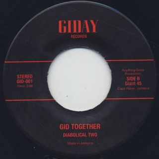 Diabolical Two / G&S c/w Gid Together back