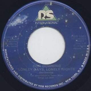 Don Downing / Doctor Boogie c/w Lonely Days, Lonely Nights back