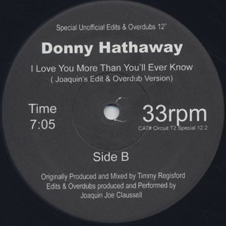 Donny Hathaway / I Love You More Than You'll Ever Know(Remix) label