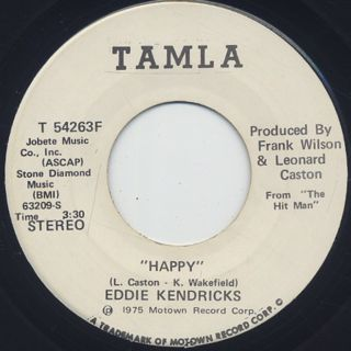 Eddie Kendricks / Happy c/w (Mono)
