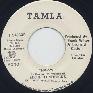 Eddie Kendricks / Happy c/w (Mono) back