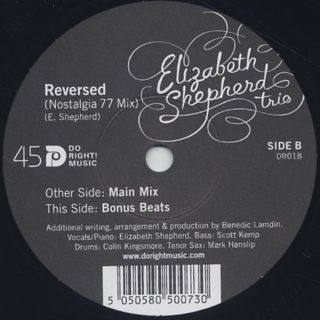 Elizabeth Shepherd Trio / Reversed (Nostalgia 77 Mix) back