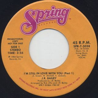 J.R. Bailey / I'm Still In Love With You back