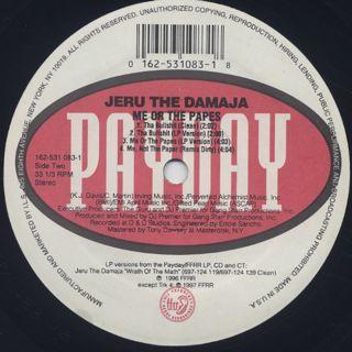 Jeru The Damaja / Me Or The Papes label