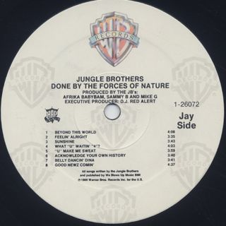 Jungle Brothers / Done By The Forces Of Nature label