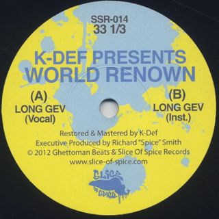 K-Def Presents World Renown / Signature Sevens Vol.3 label