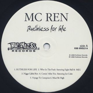 MC Ren / Ruthless For Life label