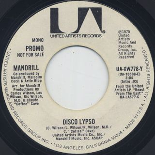 Mandrill / Disco Lypso back