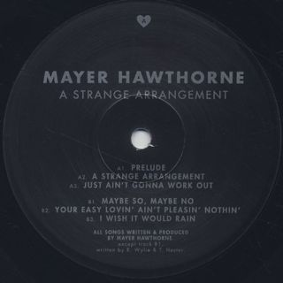 Mayer Hawthorne / A Strange Arrangement (2LP+4inch) label