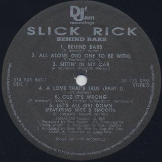 Slick Rick / Behind Bars label