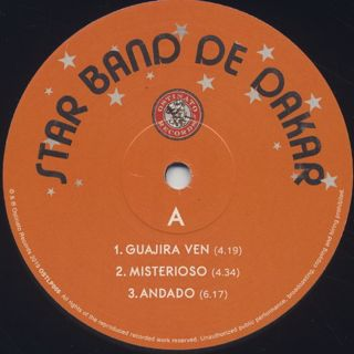 Star Band De Dakar / Star Band De Dakar label
