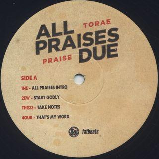 Torae / All Praises Due label