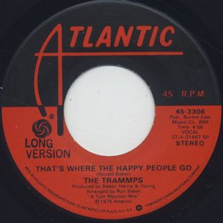 Trammps / That's Where The Happy People Go front