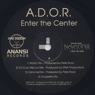 A.D.O.R. / Enter The Center label