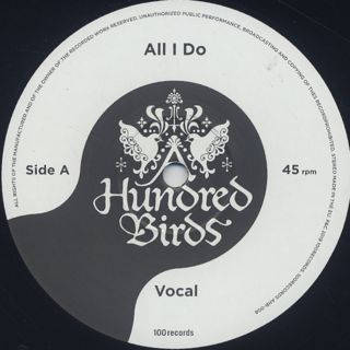 A Hundred Birds feat. Yoshinori Monta / All I Do label