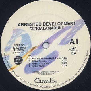 Arrested Development / Zingalamaduni label