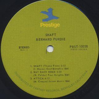 Bernard Purdie / Shaft label