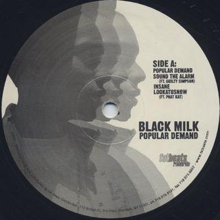 Black Milk / Popular Demand (2LP) label