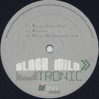 Black Milk / Tronic (2LP) label