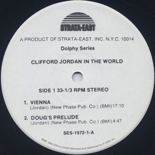 Clifford Jordan / In The World label