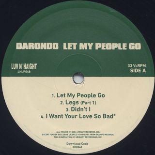 Darondo / Let My People label