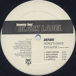 Defari / Never Lose Touch c/w People's Choice back