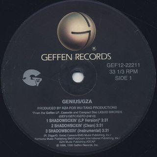 Genius/GZA / Shadowboxin' label