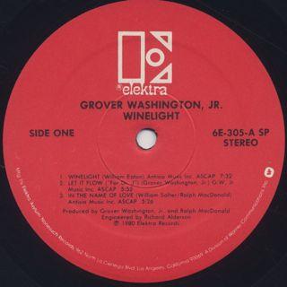 Grover Washington, Jr. / Winelight label