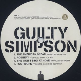 Guilty Simpson / Ode To The Ghetto label