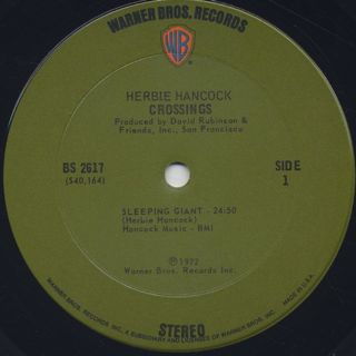 Herbie Hancock / Crossings label