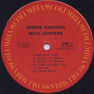 Herbie Hancock / Head Hunters label