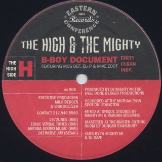 High & Mighty / B-Boy Document front
