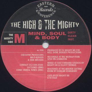 High & Mighty / B-Boy Document back