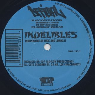 Indelible MC's / Fire In Which You Burn label