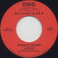 Kev-E-Kev & AK-B / Listen To The Man c/w Keep On Doin
