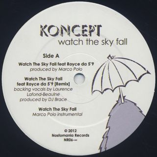 Koncept / Watch The Sky Fall label