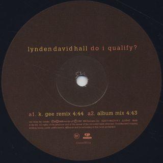 Lynden David Hall / Do I Qualify? label